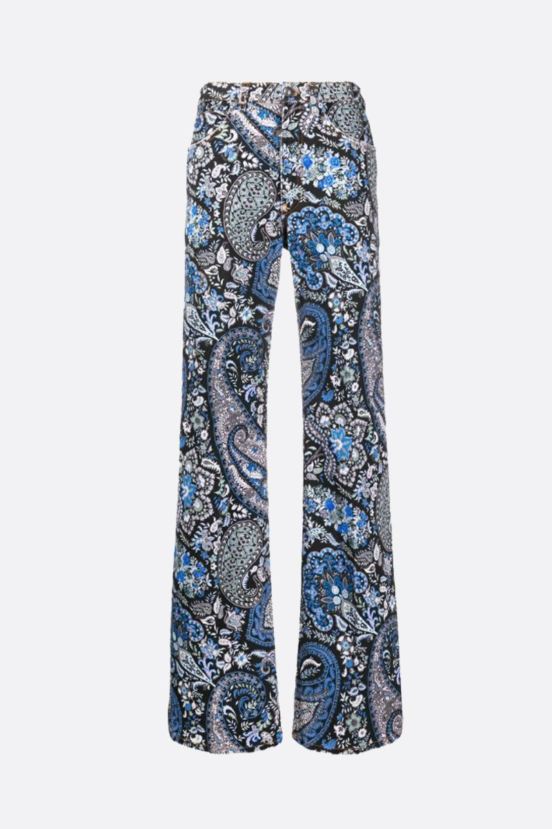 ETRO: Paisley printed flare jeans Color Multicolor_1