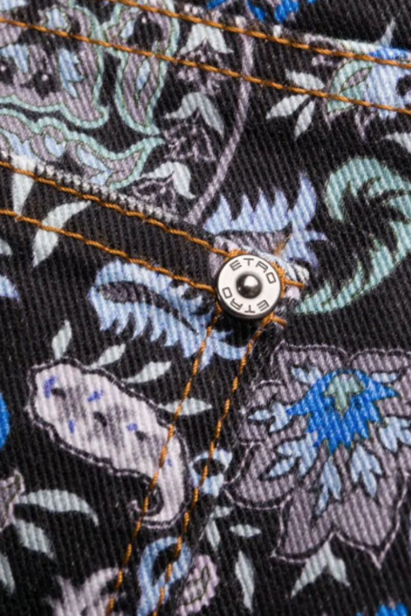 ETRO: Paisley printed flare jeans Color Multicolor_2