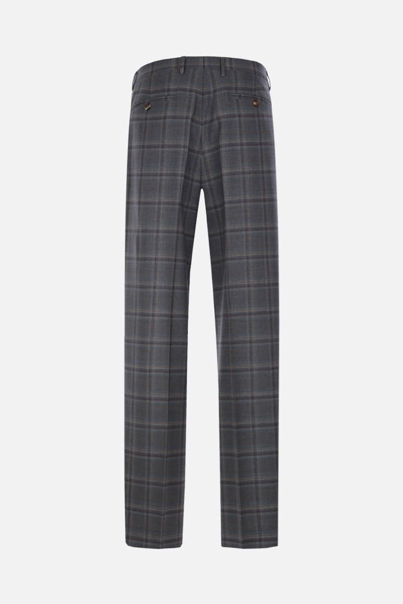 ETRO: easy-fit check wool pants Color Grey_2