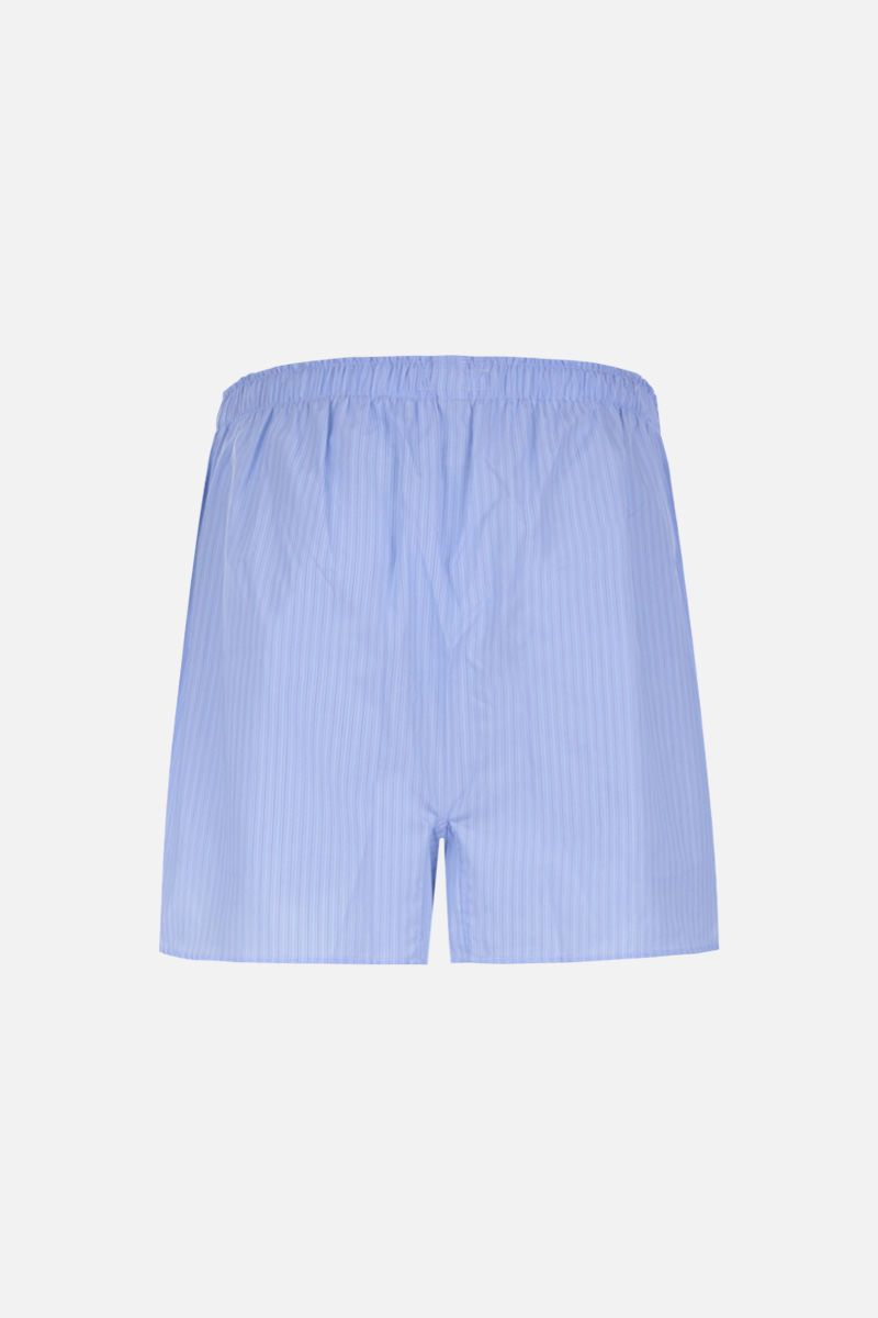 ETRO: striped cotton pajama shorts Color Blue_2