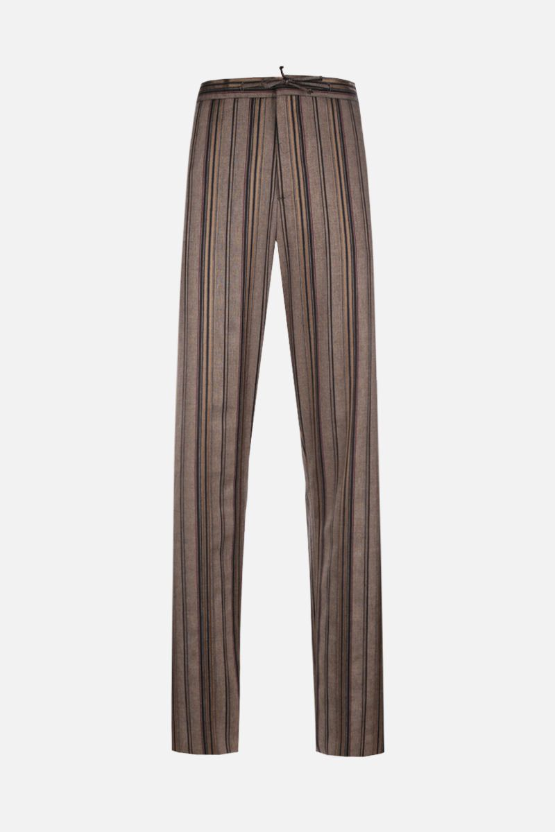 ETRO: striped wool blend joggers_1