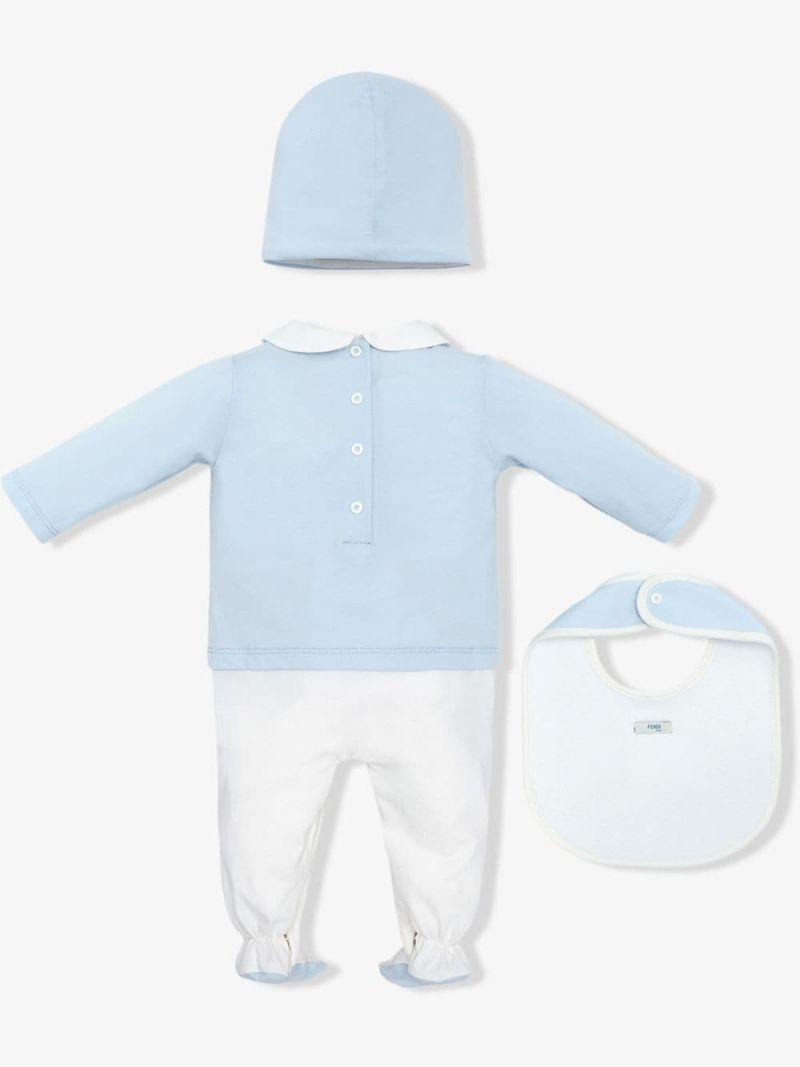 FENDI KIDS: three-piece gift set Color Blue_2