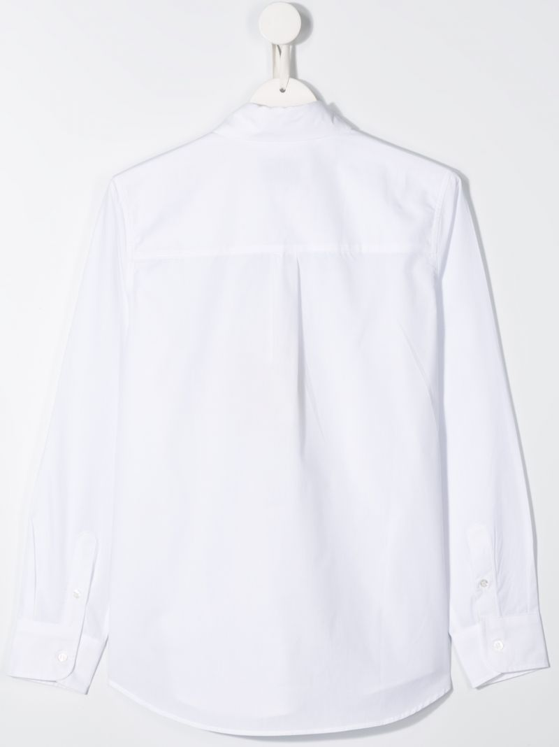 FENDI KIDS: cotton classic shirt Color White_2