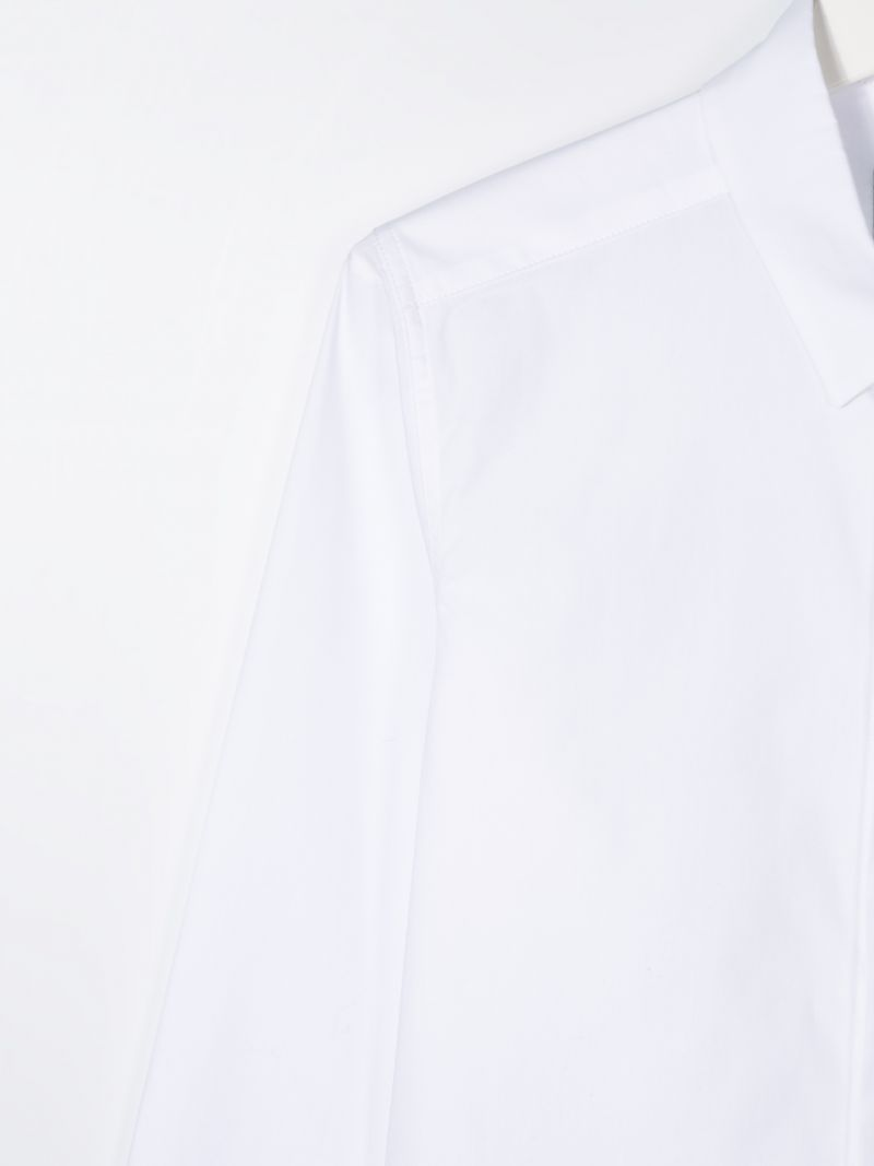 FENDI KIDS: cotton classic shirt Color White_3