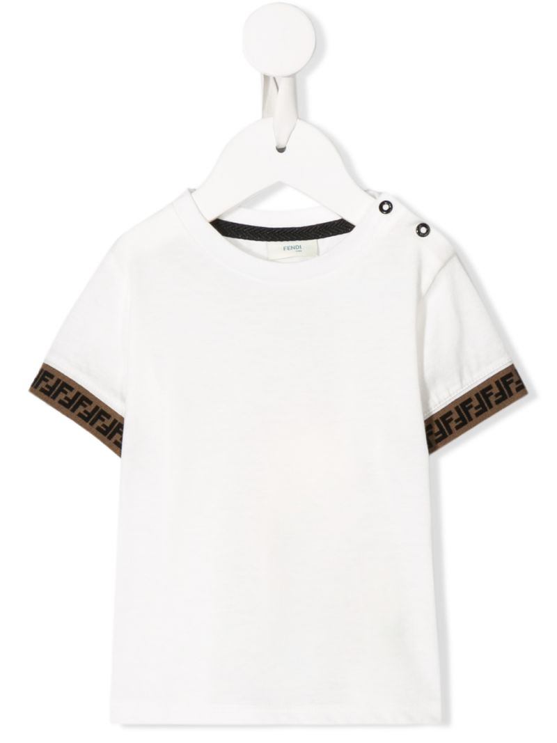FENDI KIDS: cotton t-shirt with FF detailing Color Neutral