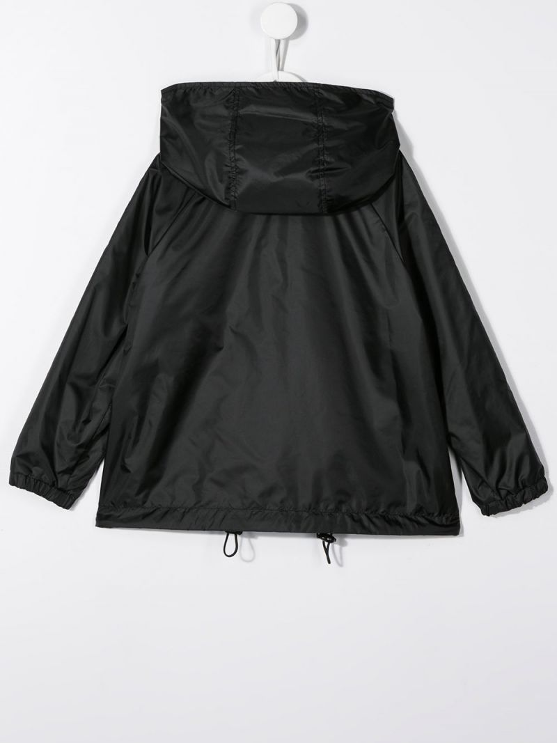 FENDI KIDS: nylon reversible windbreaker Color Black_2