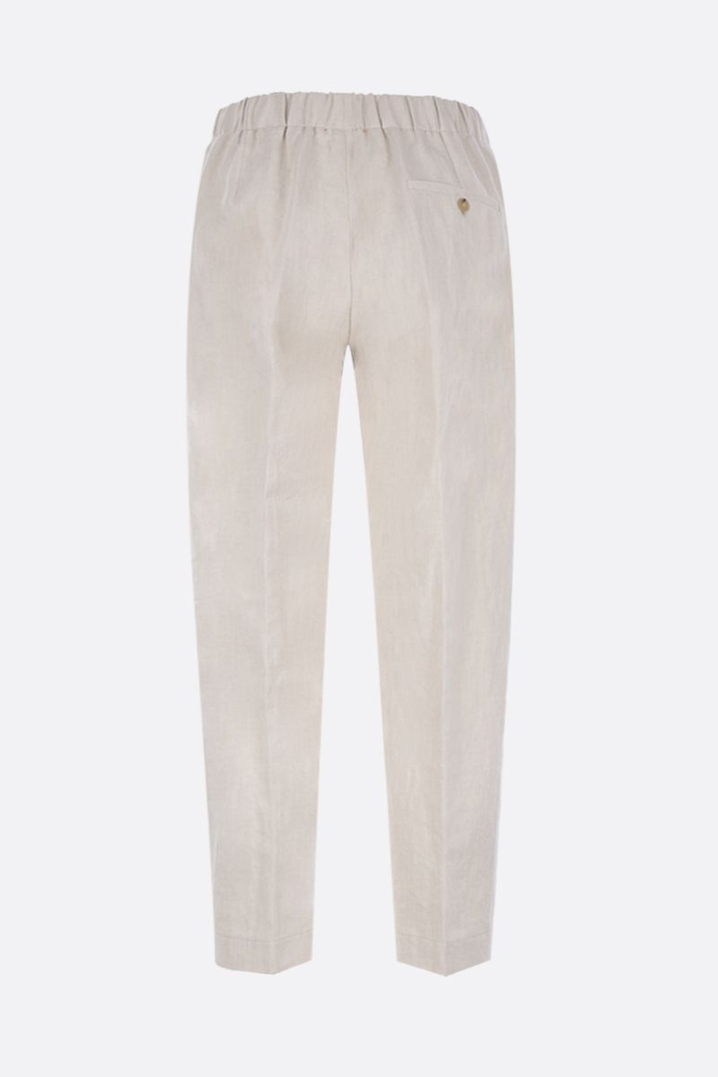 cotton lined blend straight leg pants | Tiziana Fausti