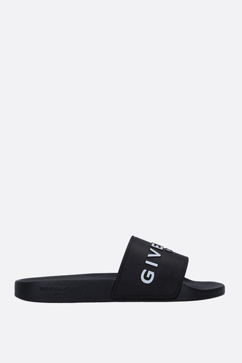 GIVENCHY: Givenchy rubber slide sandals Color Black_1