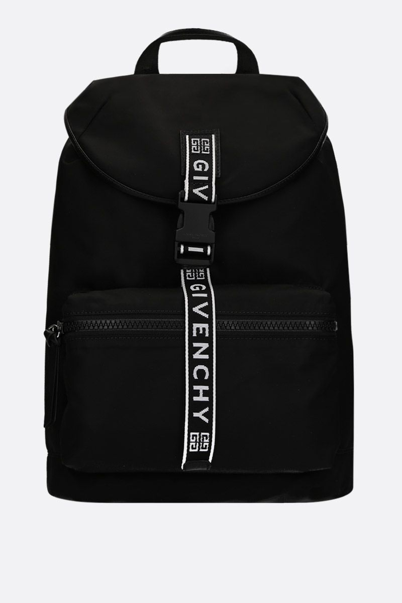 GIVENCHY: Light3 backpack in nylon Color Black_1