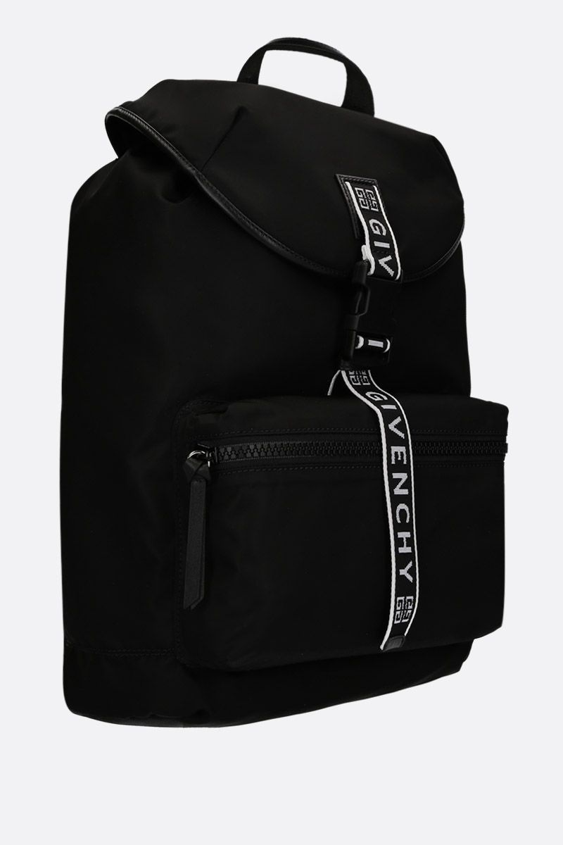 GIVENCHY: Light3 backpack in nylon Color Black_2