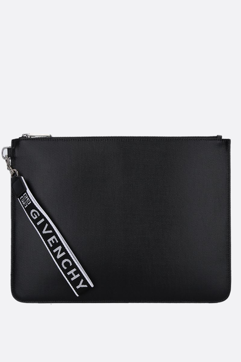 GIVENCHY: coated canvas large pouch Color Black_1