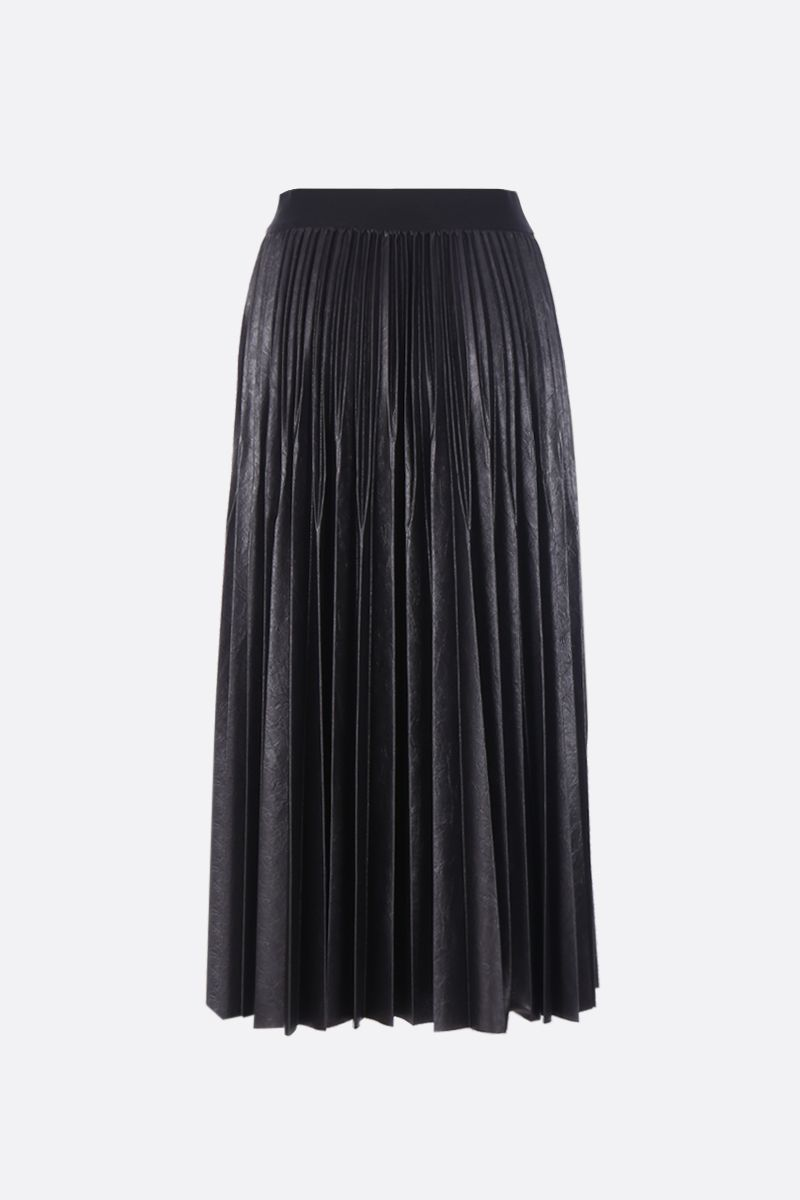 GIVENCHY: Givenchy pleated skirt in coated jersey Color Black_2