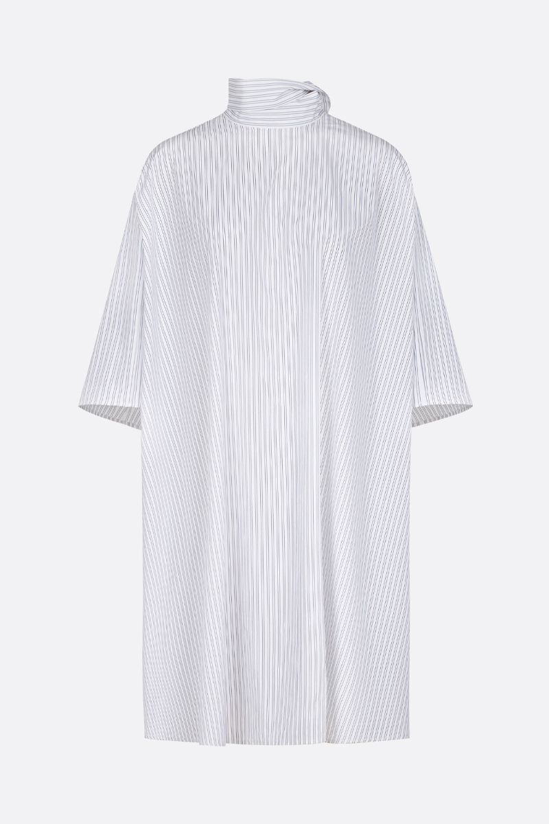GIVENCHY: striped cotton short oversize dress Color White_1
