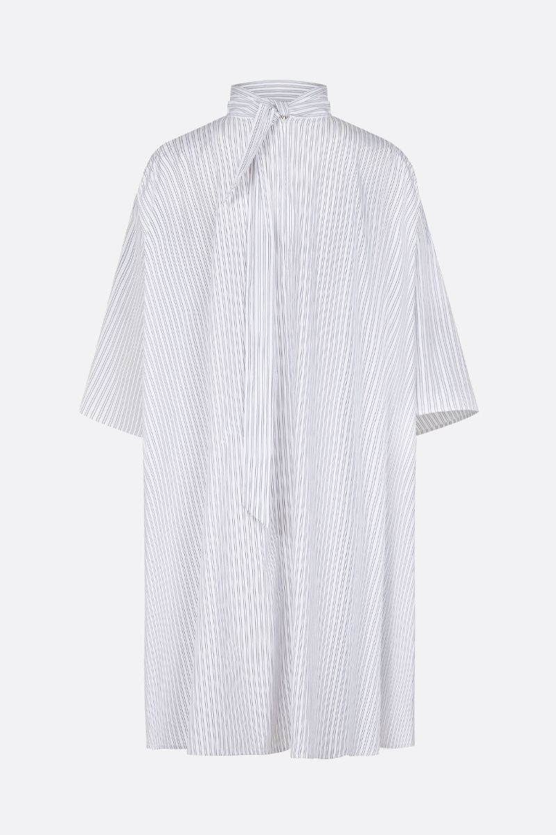 GIVENCHY: striped cotton short oversize dress Color White_2