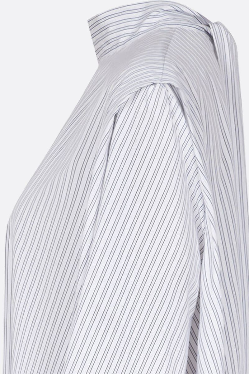 GIVENCHY: striped cotton short oversize dress Color White_3