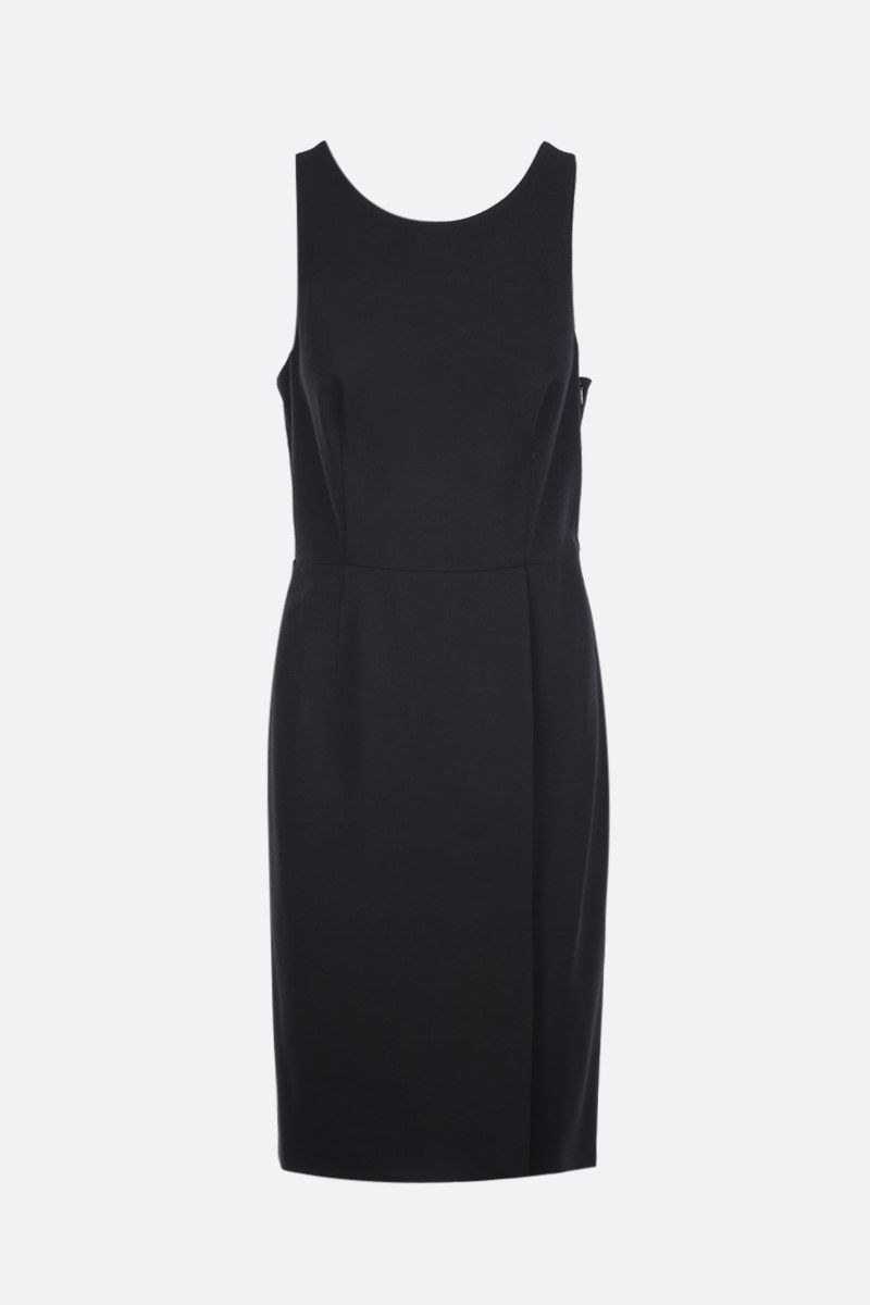 GIVENCHY: wool crepe sleeveless dress Color Black_1