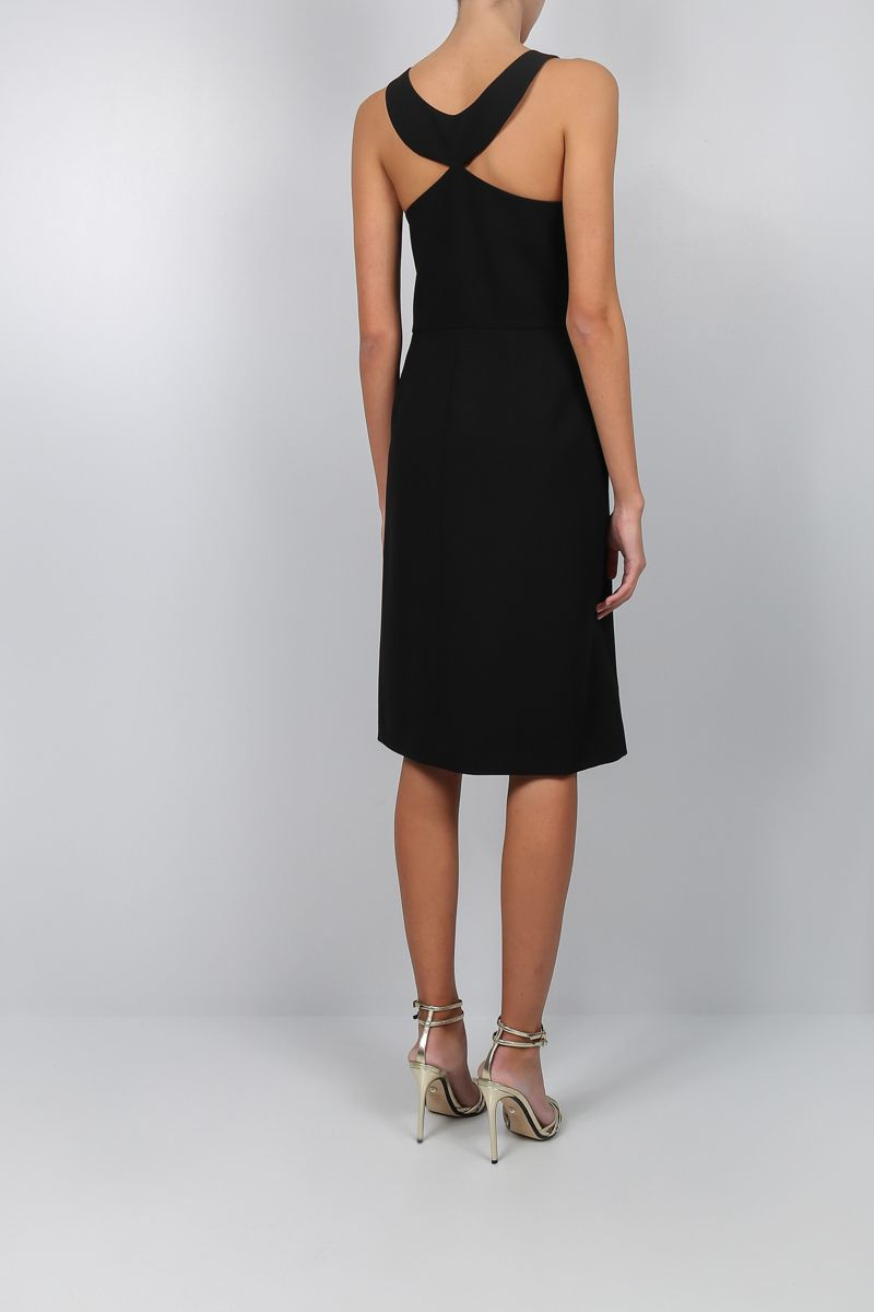 GIVENCHY: wool crepe sleeveless dress Color Black_2