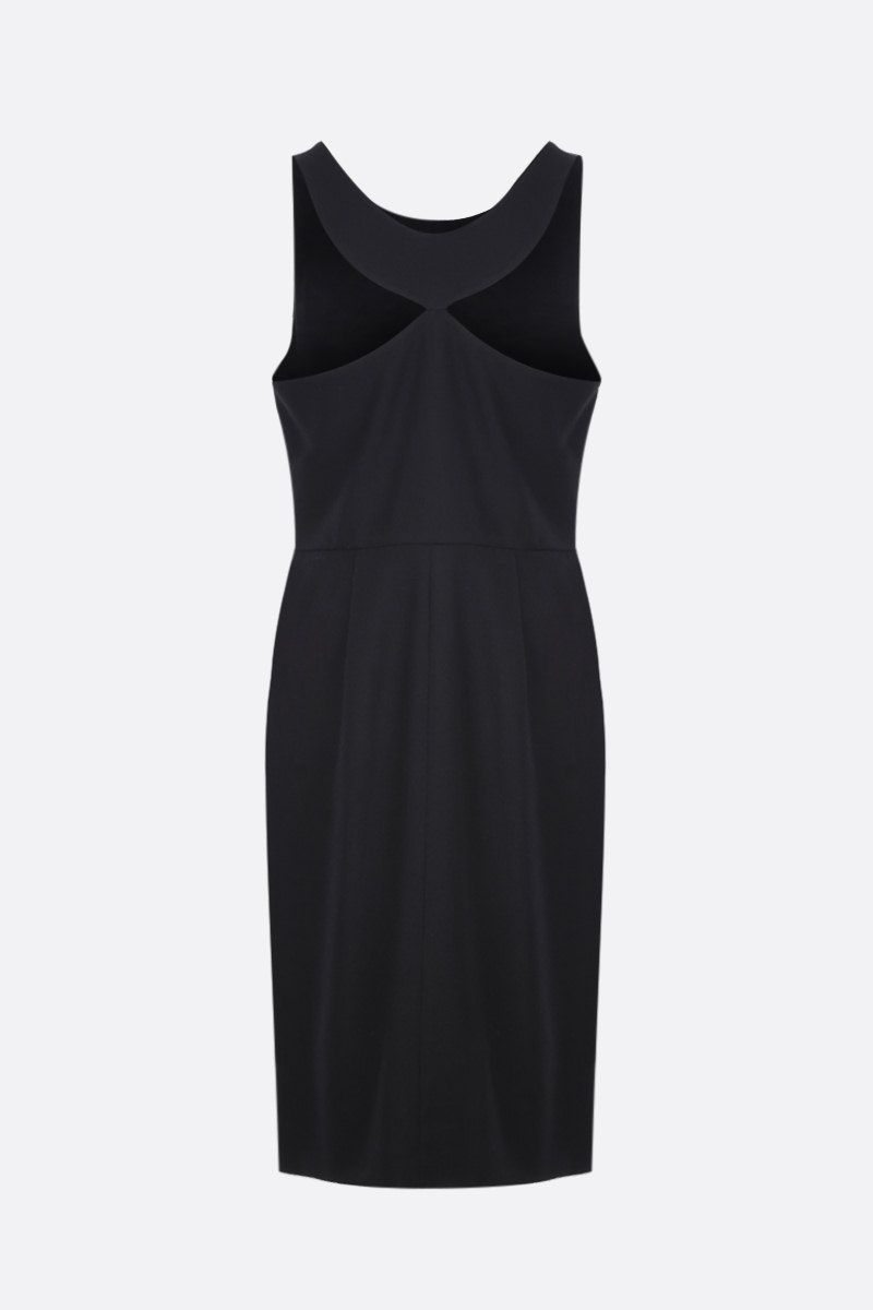 GIVENCHY: wool crepe sleeveless dress Color Black_3