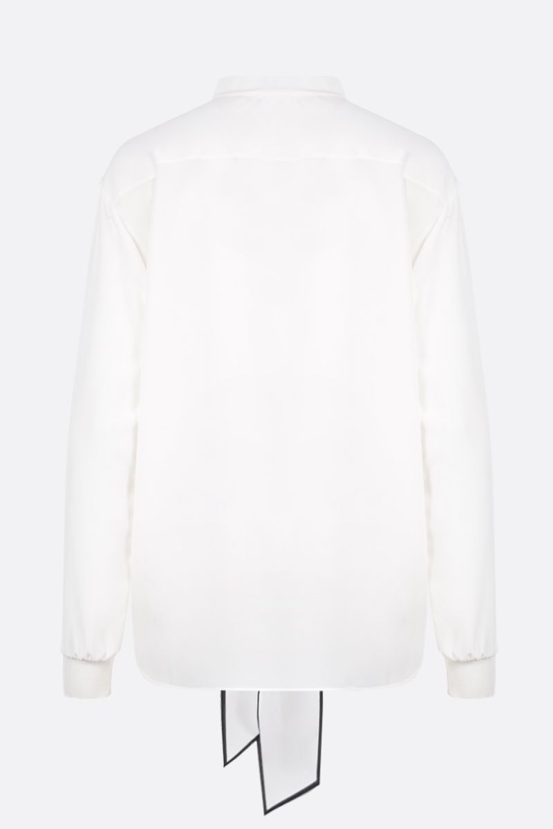 GIVENCHY: crepe de chine blouse with logoed detail Color Multicolor_2