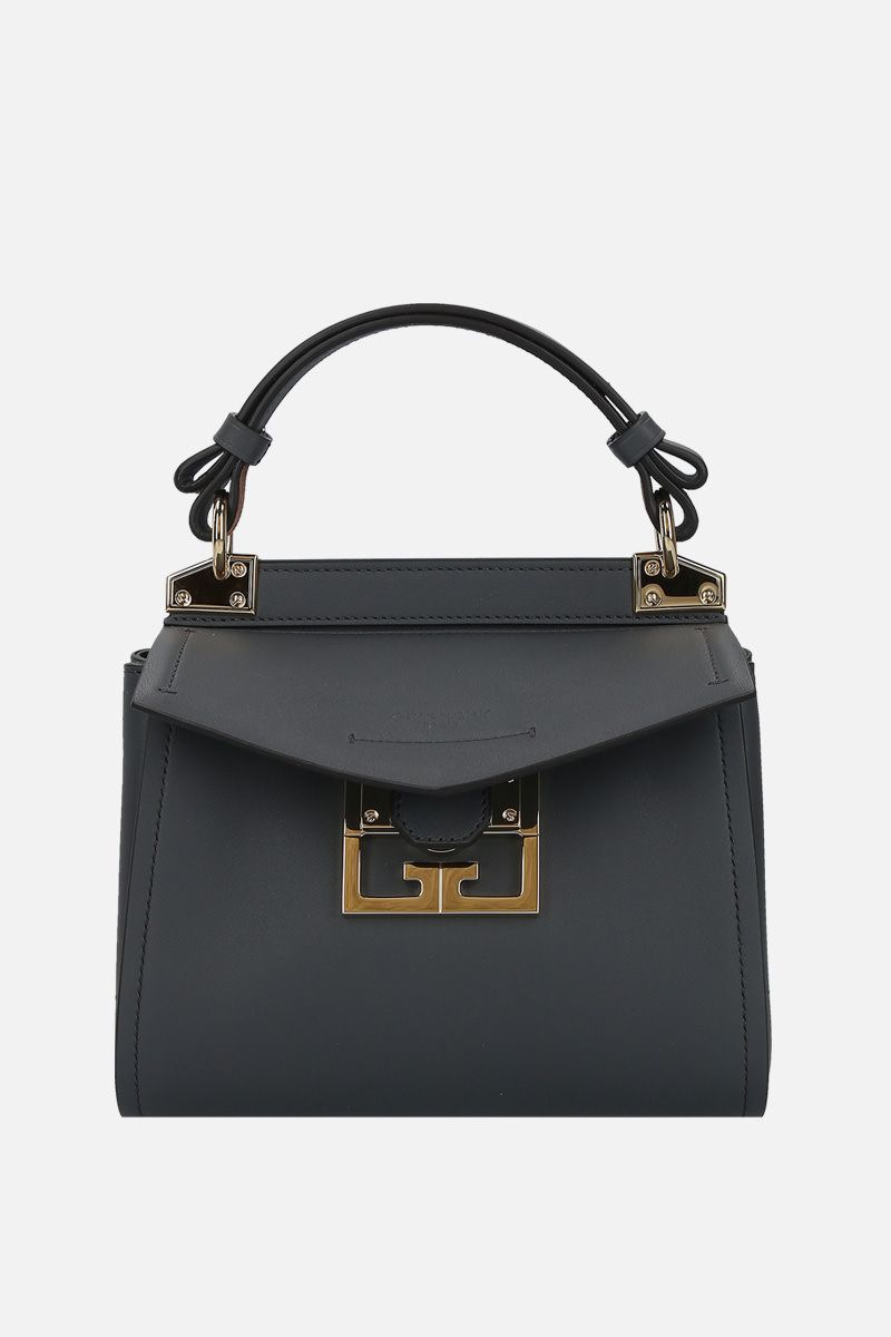 GIVENCHY: Mystic mini smooth leather top handle bag_1