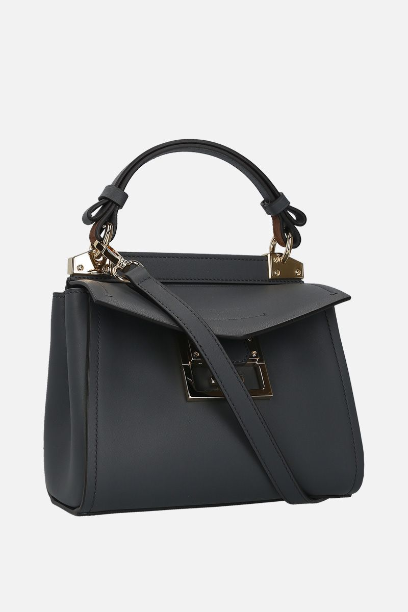 GIVENCHY: Mystic mini smooth leather top handle bag_2