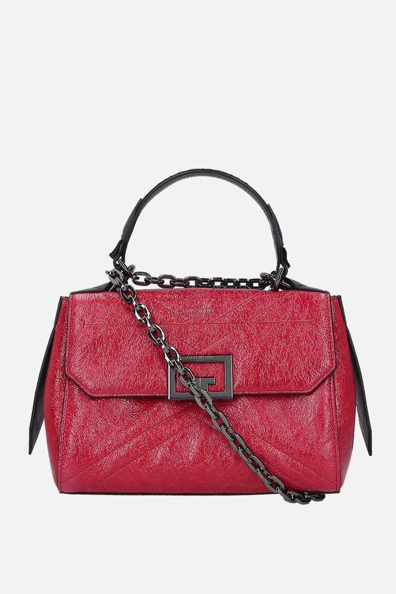 GIVENCHY: ID small crackled leather top handle bag_1