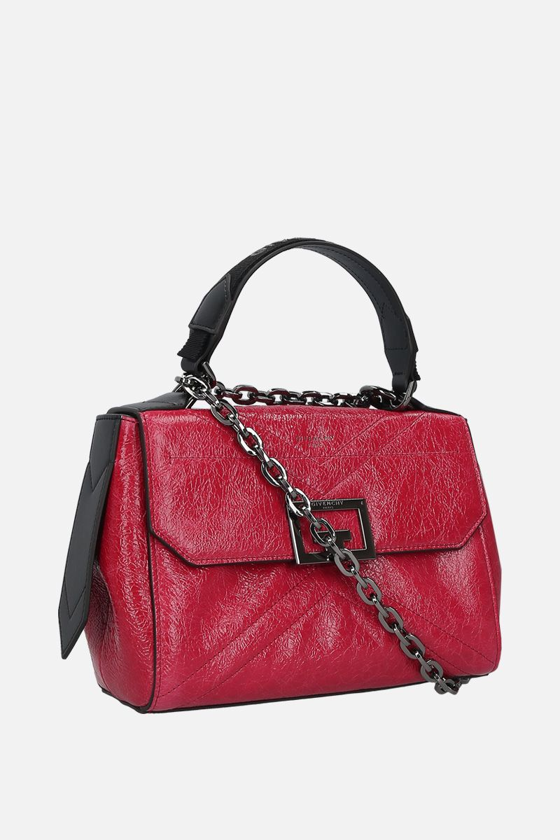 GIVENCHY: ID small crackled leather top handle bag_2