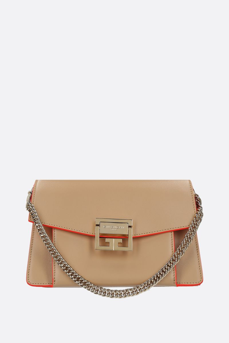 GIVENCHY: GV3 small shoulder bag in shiny leather_1