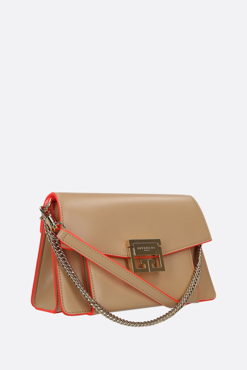 GIVENCHY: GV3 small shoulder bag in shiny leather_2