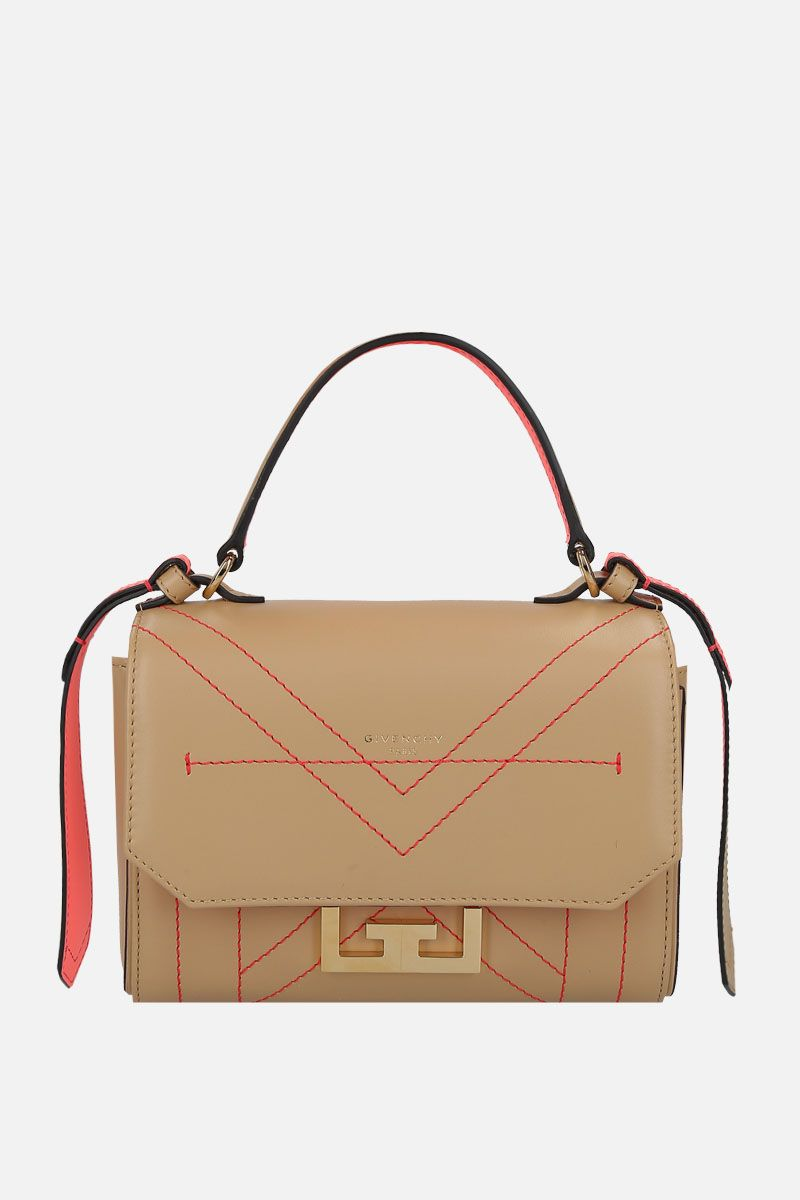 GIVENCHY: Eden mini shoulder bag in smooth leather Color Neutral_1
