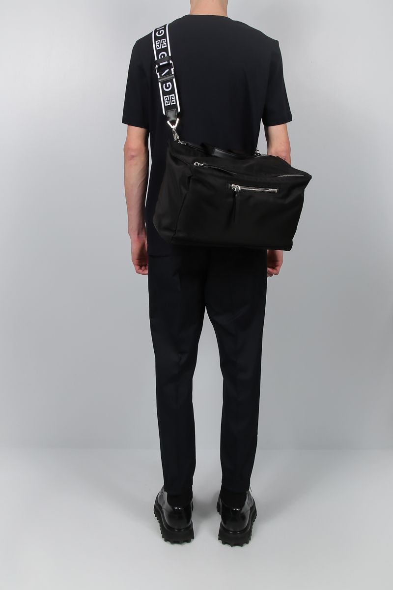 GIVENCHY: Pandora nylon messenger bag Color Black_2