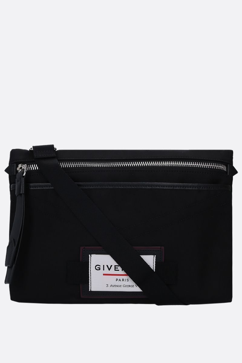 GIVENCHY: borsa a tracolla Givenchy Downtown in nylon Colore Nero_1
