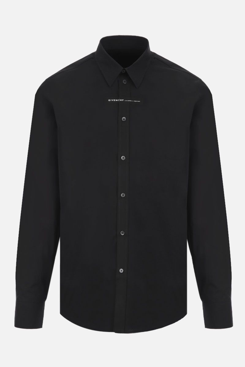 GIVENCHY: Givenchy Adresse cotton shirt Color Black_1