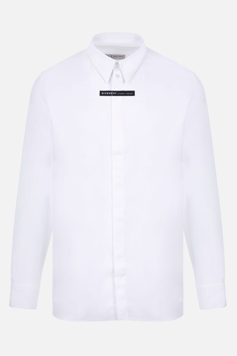 GIVENCHY: Givenchy Adresse cotton shirt Color White_1