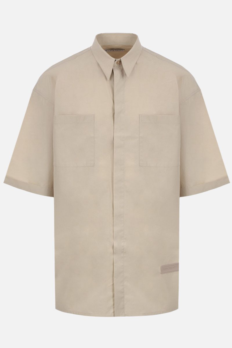 GIVENCHY: cotton short-sleeve oversized shirt Color Neutral_1
