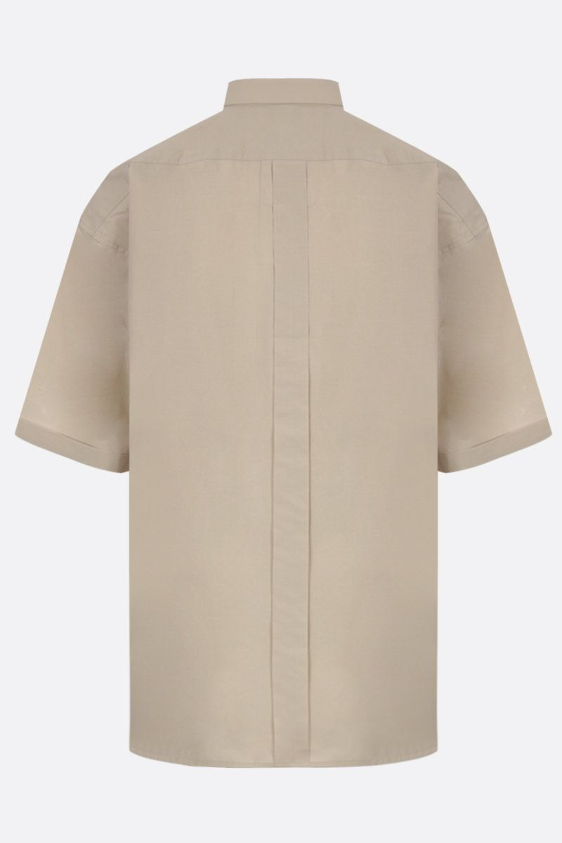 GIVENCHY: cotton short-sleeve oversized shirt Color Neutral_2