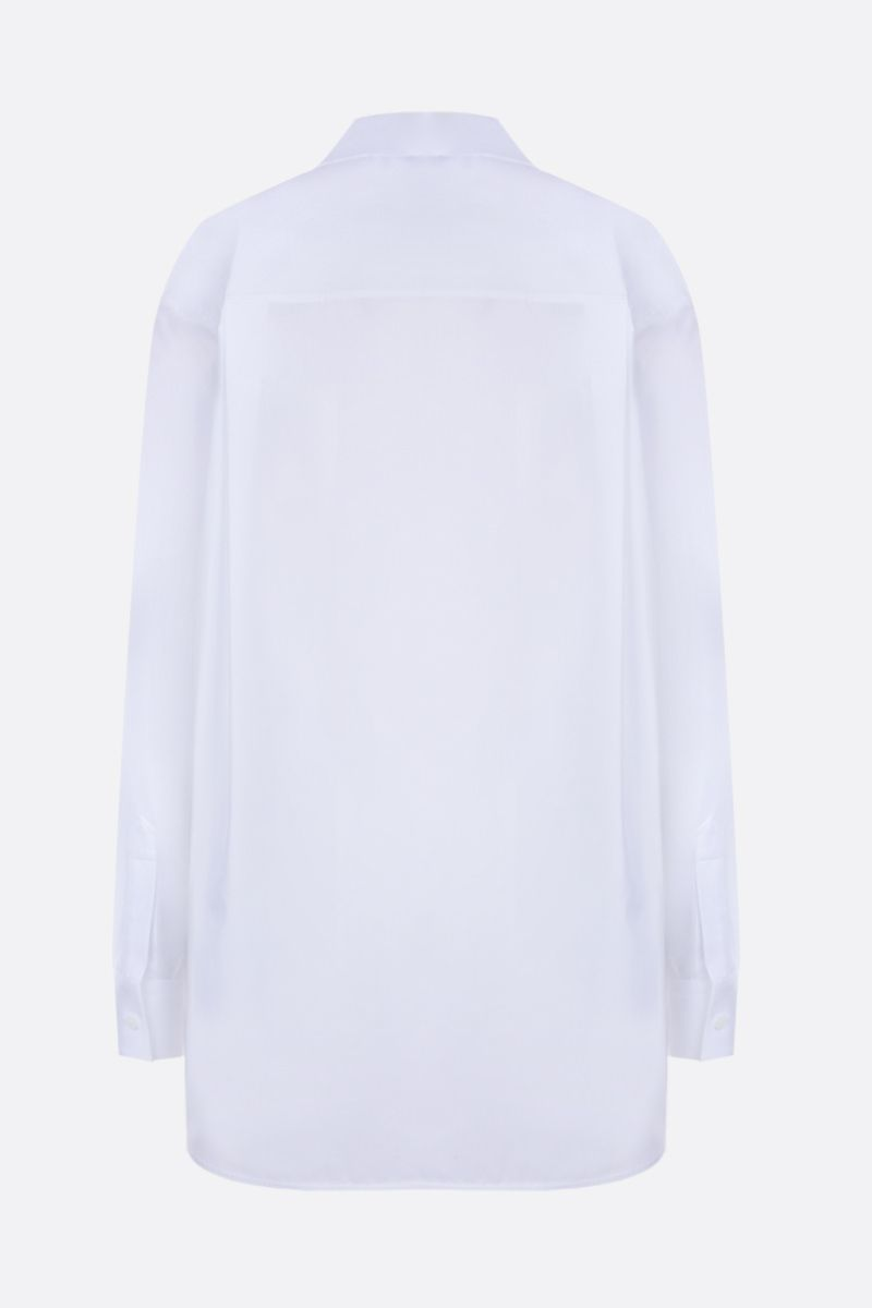 GIVENCHY: poplin shirt with pleated detail Color White_2