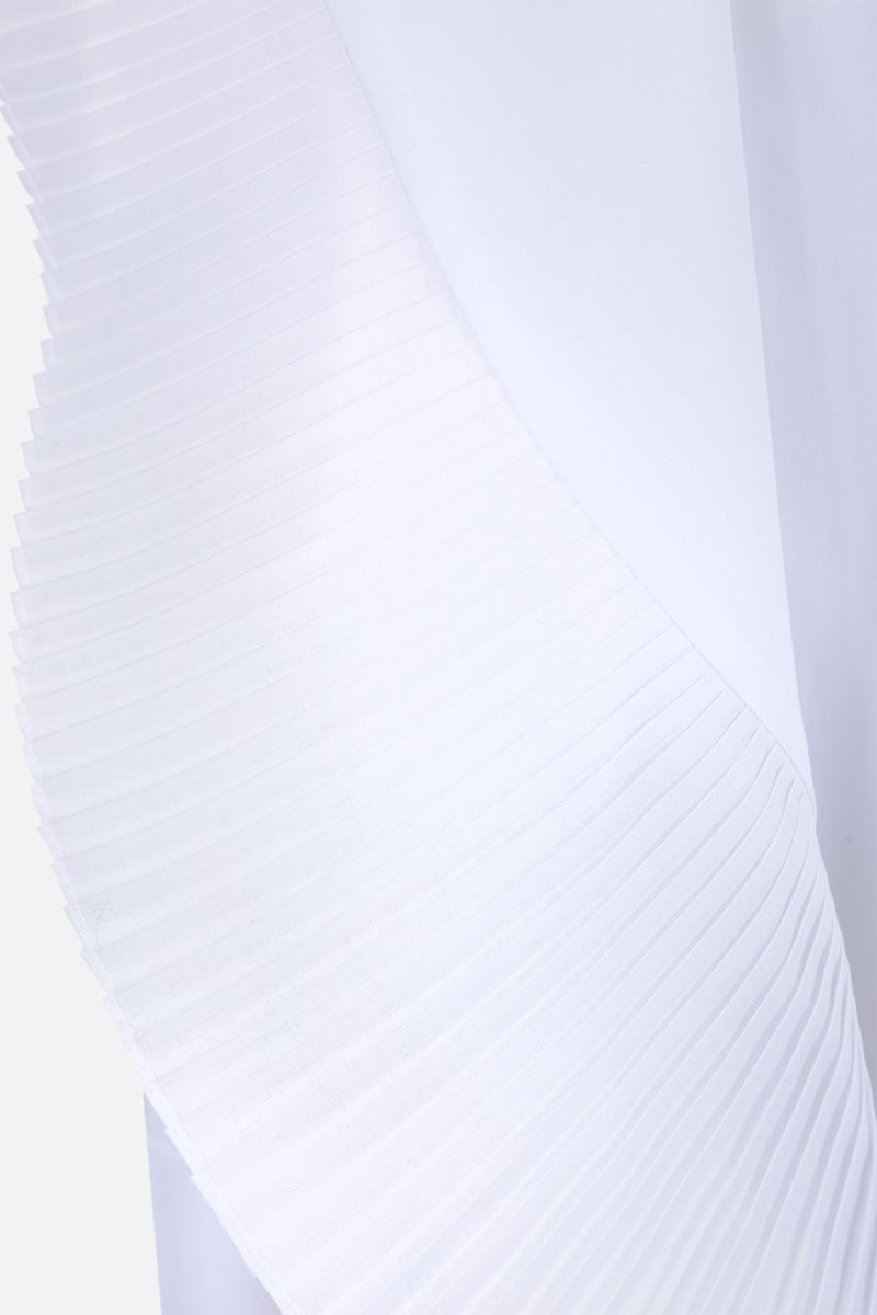 GIVENCHY: poplin shirt with pleated detail Color White_4