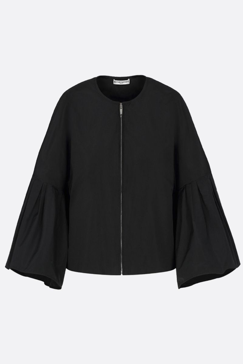 GIVENCHY: giacca full-zip in taffetà Colore Nero_1