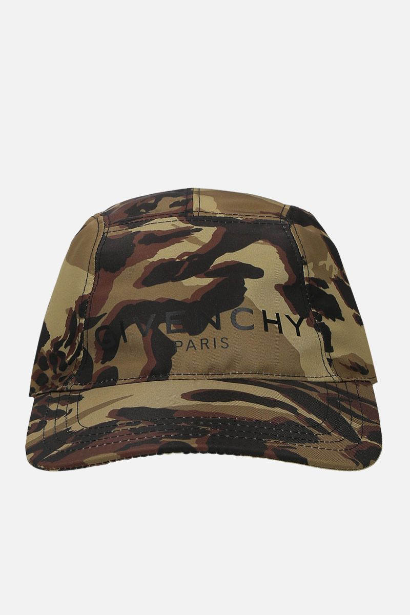 GIVENCHY: Givenchy Paris camouflage-nylon baseball cap Color Multicolor_1