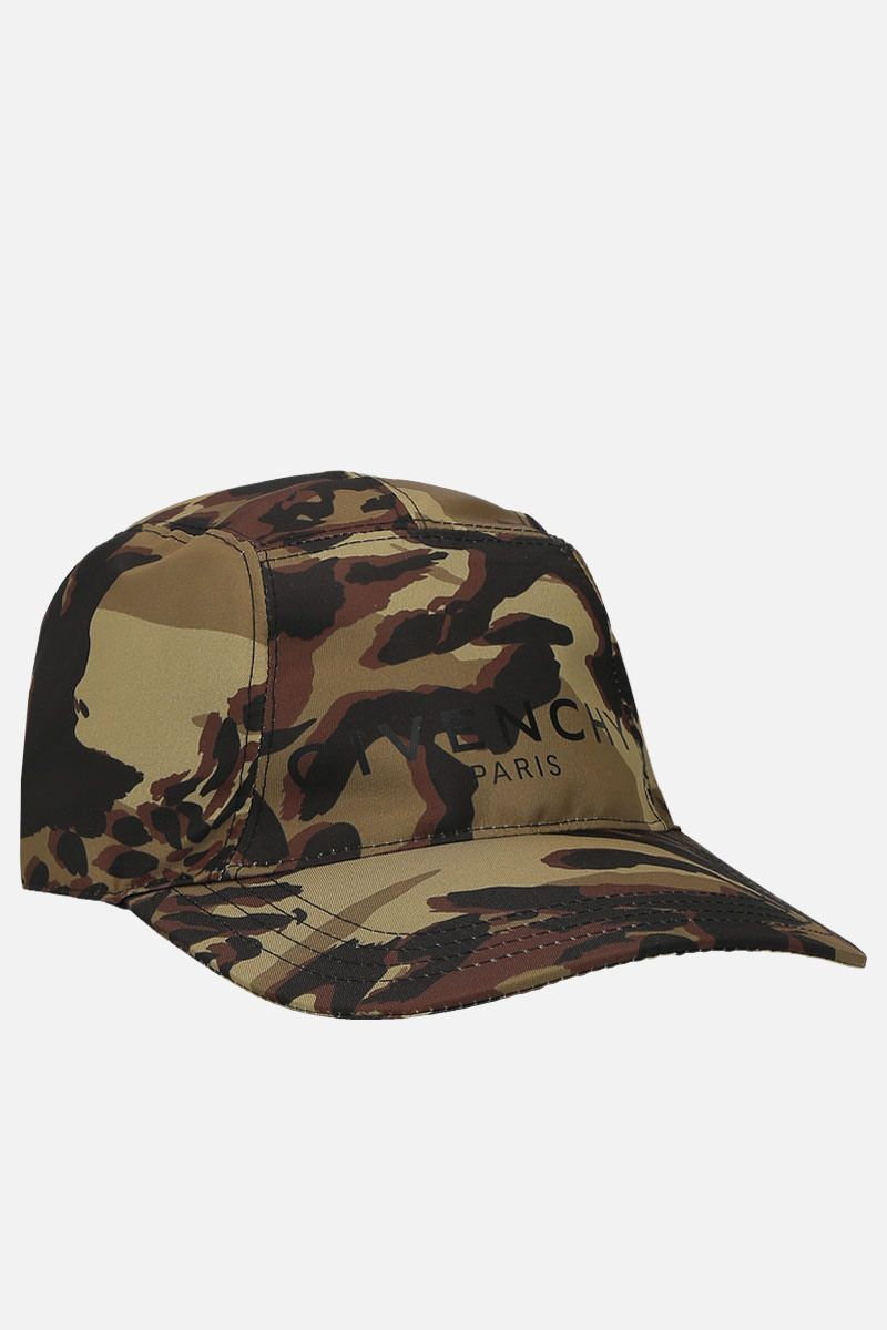 GIVENCHY: Givenchy Paris camouflage-nylon baseball cap Color Multicolor_2