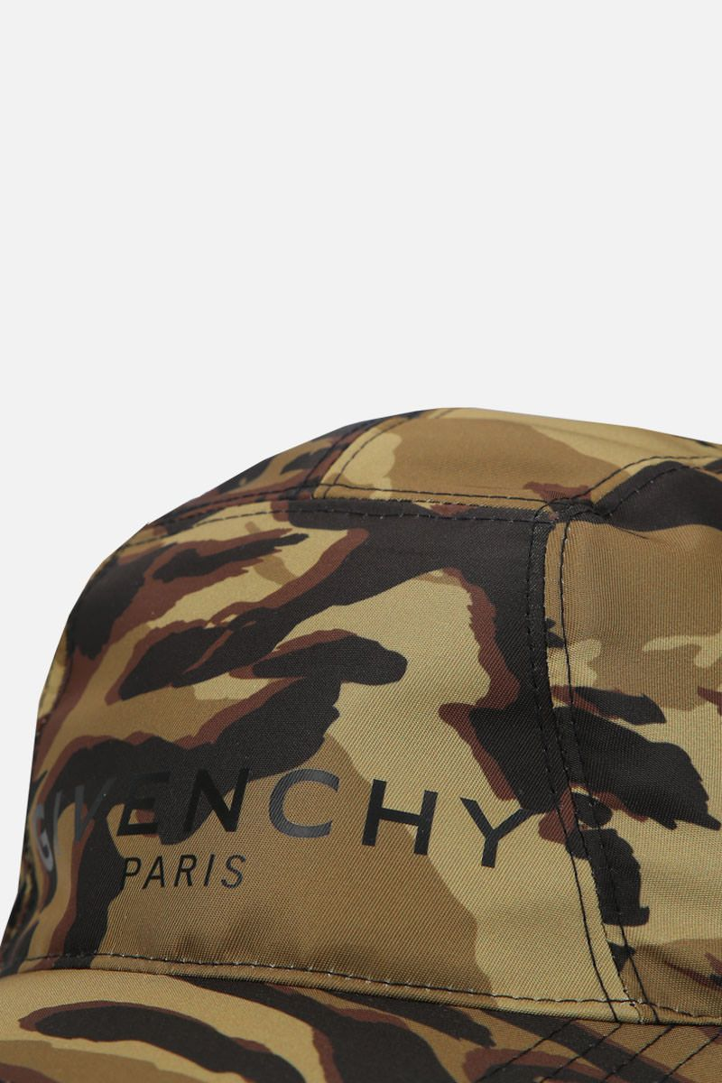 GIVENCHY: cappellino Givenchy Paris in nylon camouflage Colore Multicolore_4