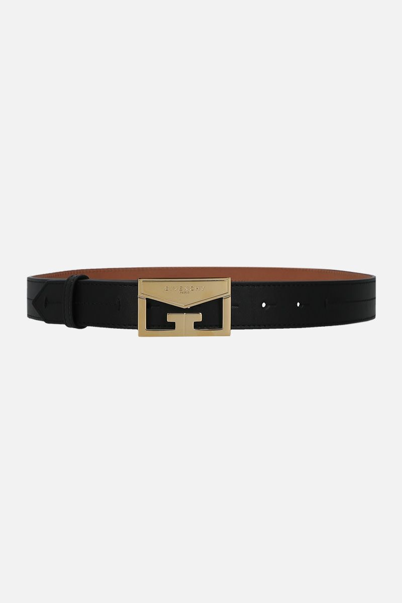 GIVENCHY: Mystic belt in smooth leather Color Black_1