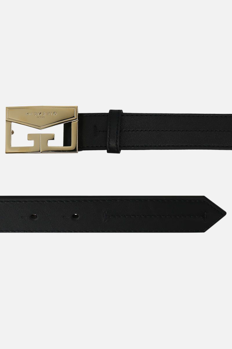 GIVENCHY: Mystic belt in smooth leather Color Black_2