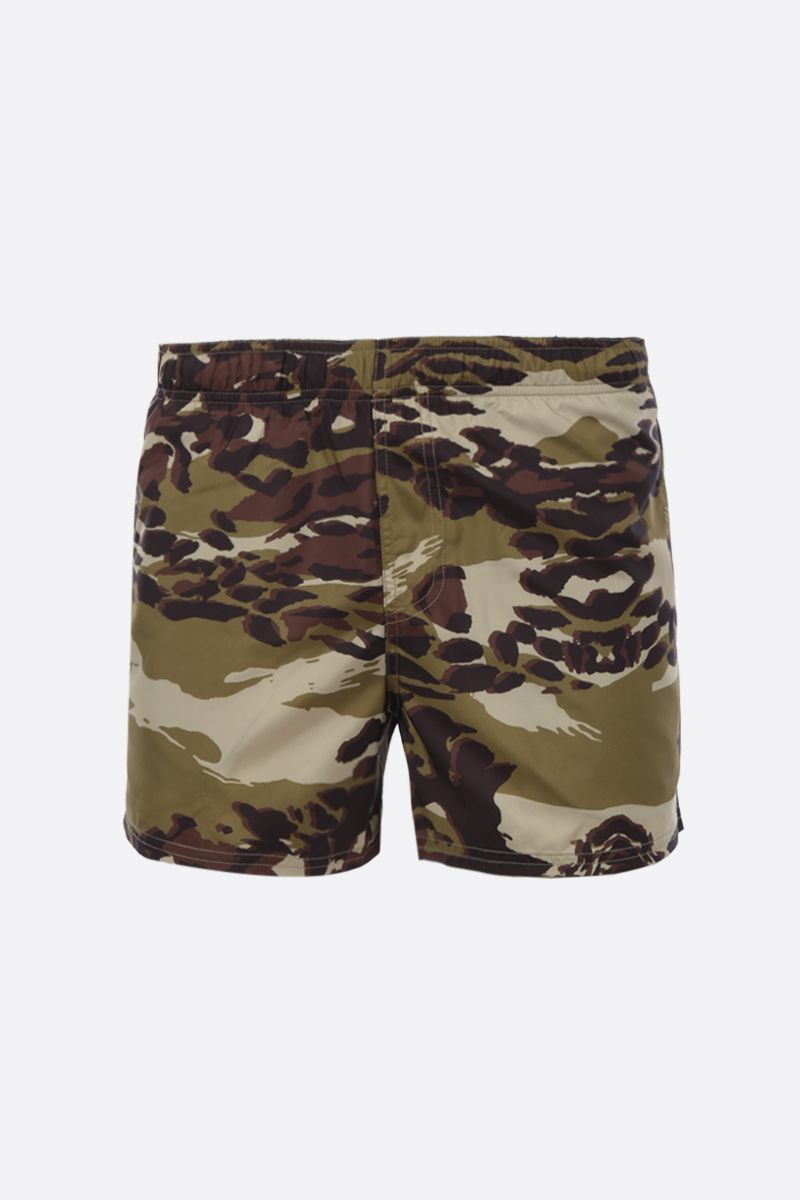 GIVENCHY: camouflage print nylon swim shorts Color Brown_1