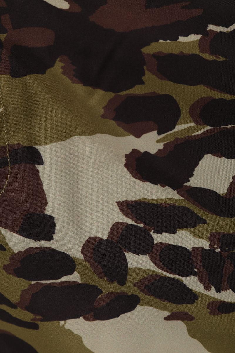 GIVENCHY: camouflage print nylon swim shorts Color Brown_3