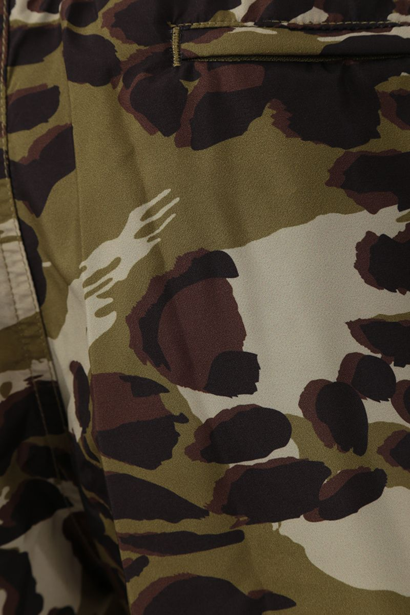 GIVENCHY: camouflage print nylon swim shorts Color Brown_4