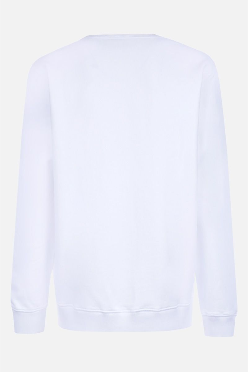 GIVENCHY: Givenchy signature embroidered jersey sweatshirt Color White_2