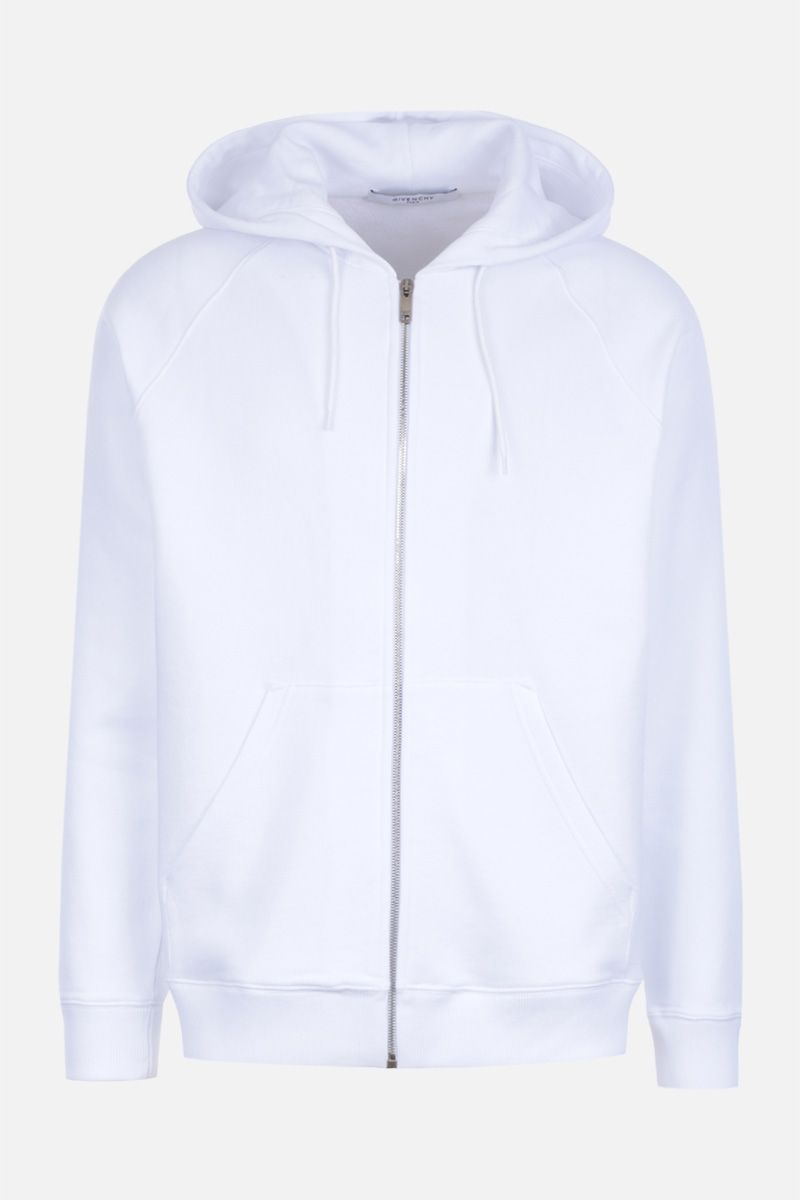 GIVENCHY: Givenchy signature embroidered jersey hoodie Color White_1