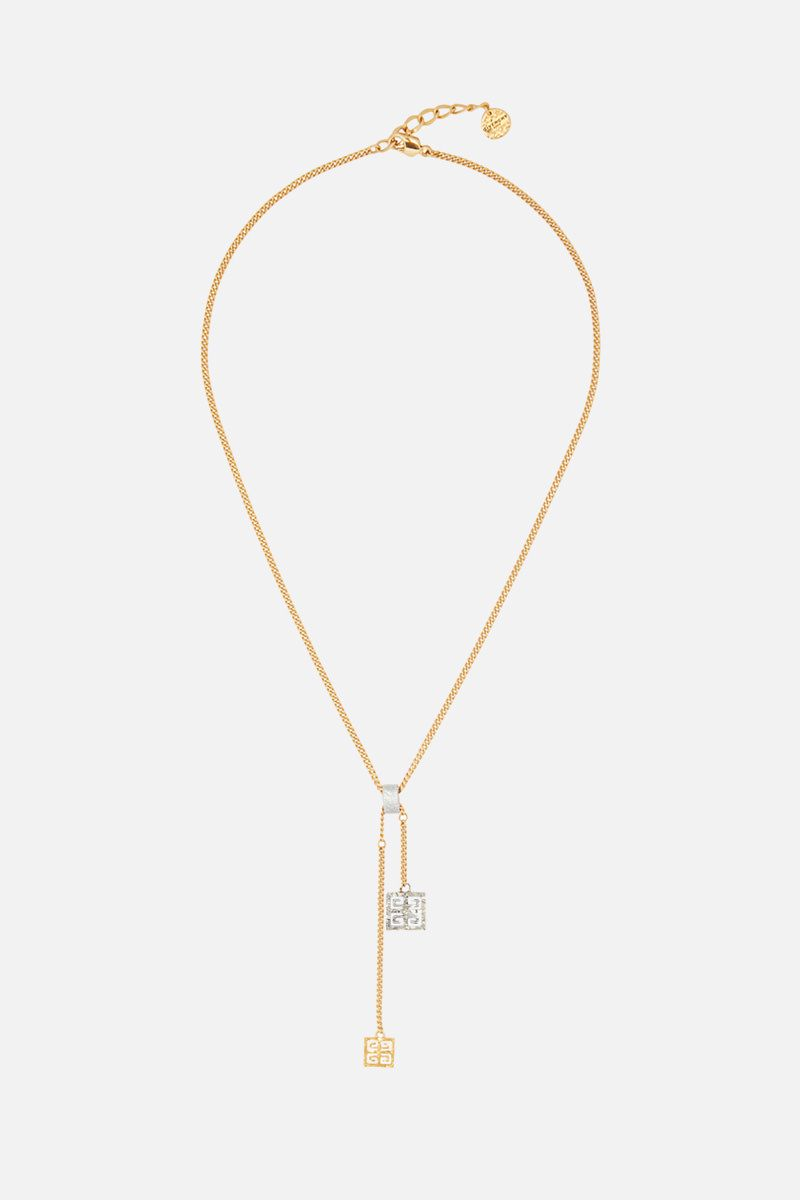 GIVENCHY: 4G pendant necklace in bronze Color Multicolor_1